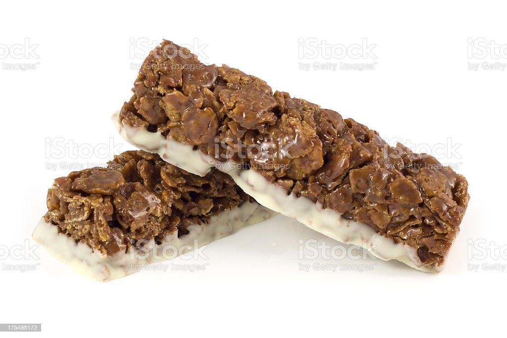 Chocolate cereal bars stock photo
