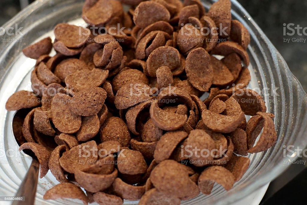 chocolate cereal corn flakes stock photo