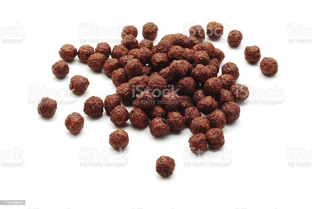 chocolate cereals stock photo