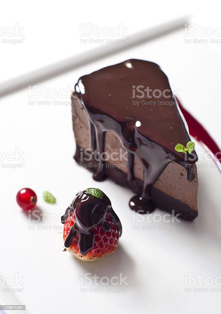 Chocolate Cheesecake stock photo