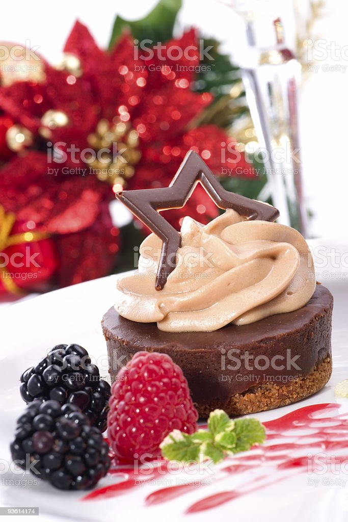 Chocolate cheesecake royalty-free stock photo