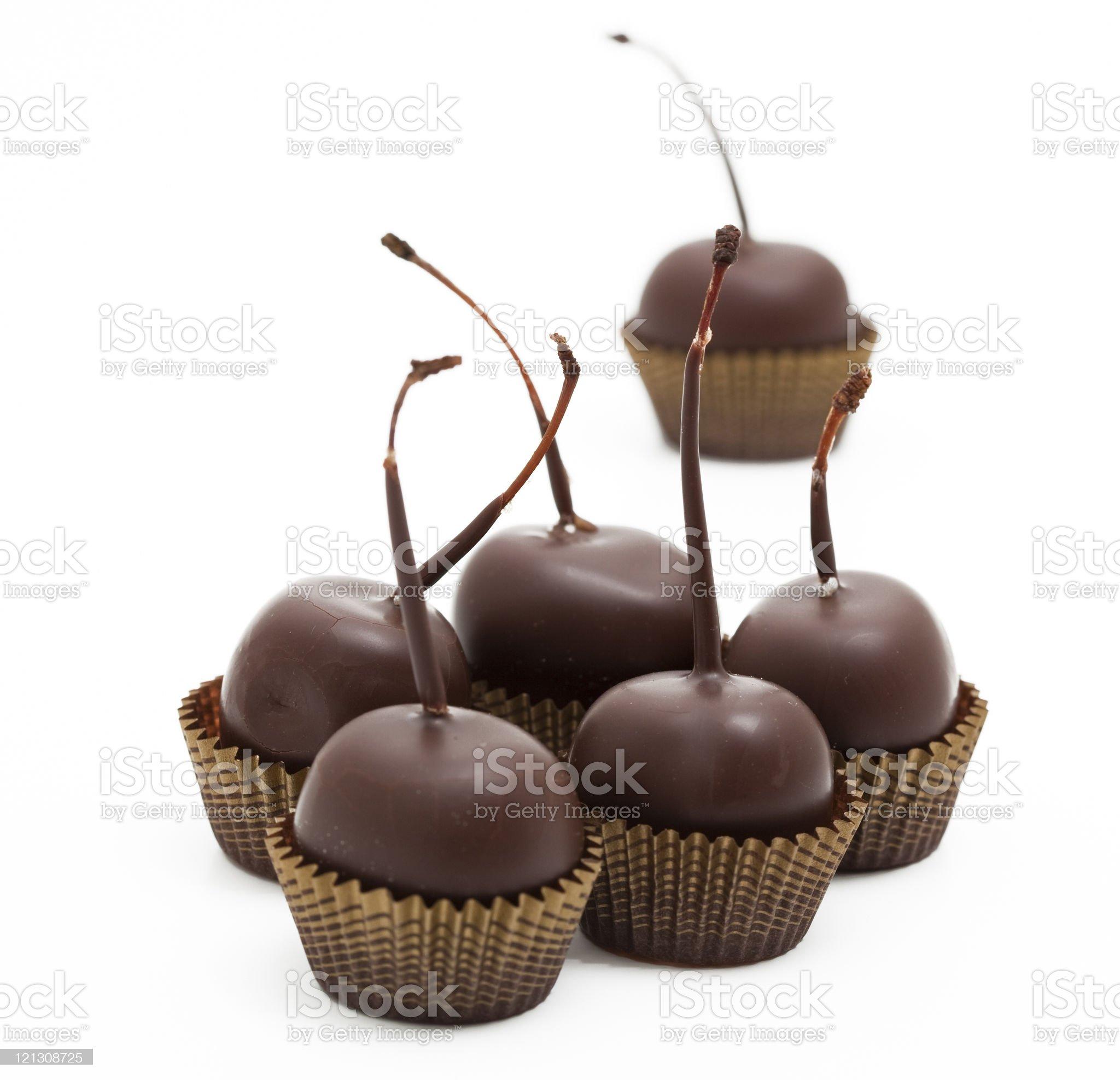 chocolate cherries royalty-free stock photo