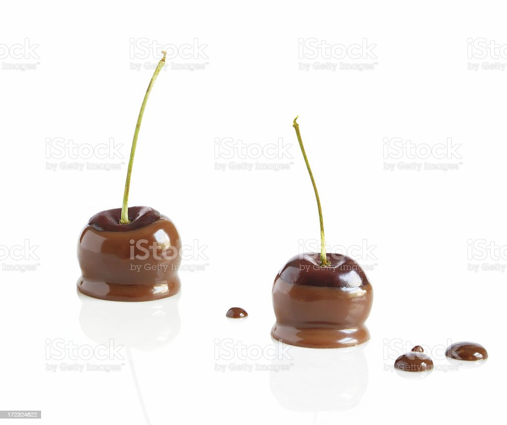 Chocolate cherries royalty-free stock photo