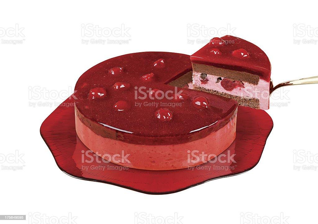 Chocolate Cherry Cake royalty-free stock photo
