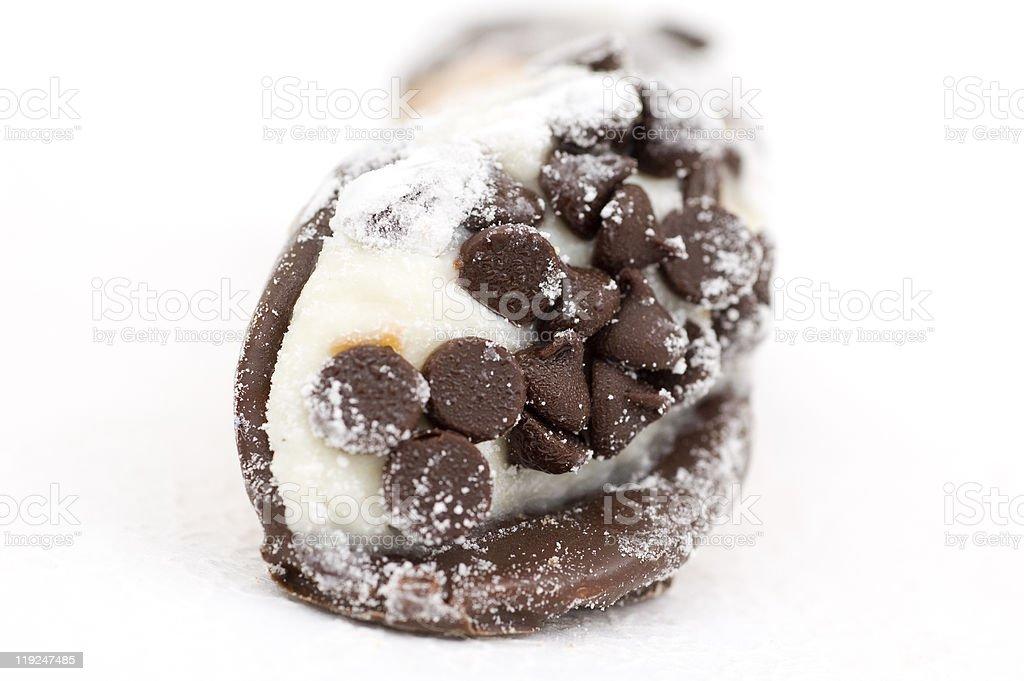 Chocolate Chip Cannoli royalty-free stock photo