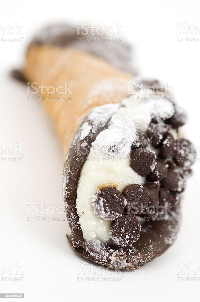 Chocolate Chip Cannoli stock photo