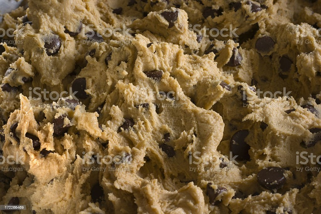 Chocolate Chip Cookie Dough Close-up royalty-free stock photo