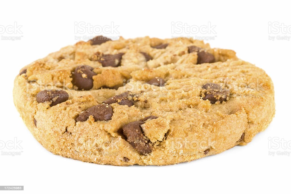 Chocolate Chip Cookie mid-angle stock photo