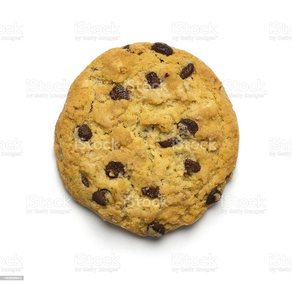 Chocolate chip cookie stock photo