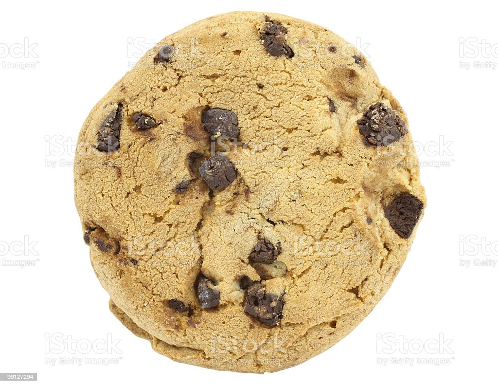 Chocolate Chip cookie stock photo