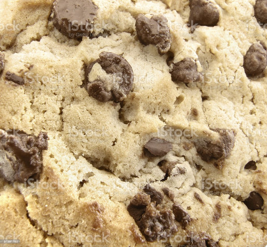 Chocolate Chip Cookie Texture royalty-free stock photo