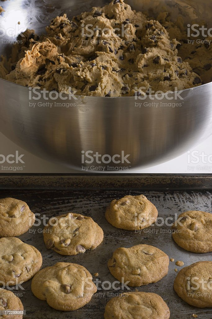 Chocolate Chip Cookies & Dough royalty-free stock photo