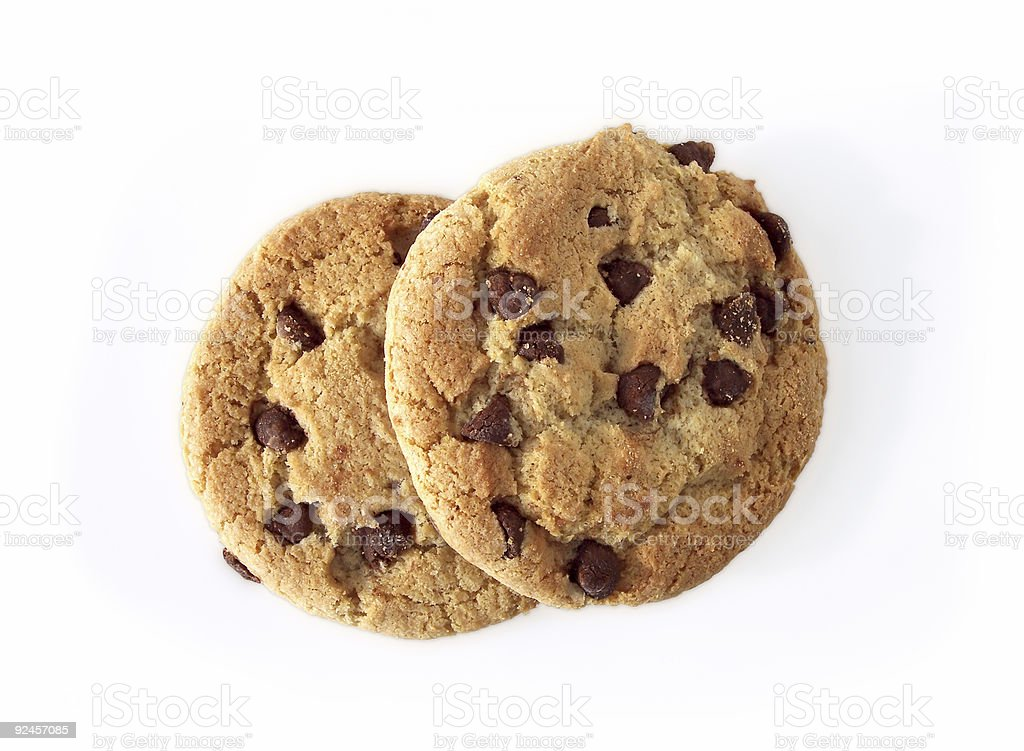 Chocolate Chip Cookies (path included royalty-free stock photo