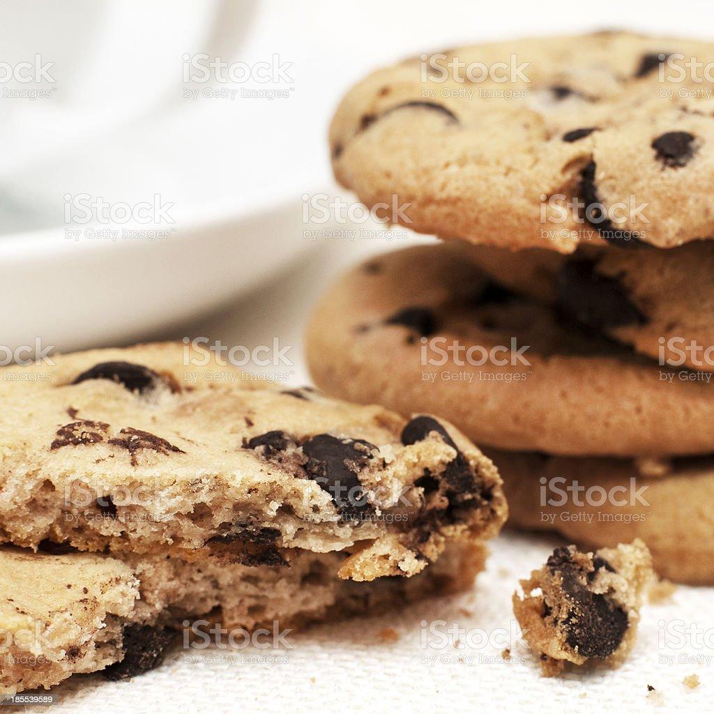 cookies aux pépites de chocolat photo libre de droits