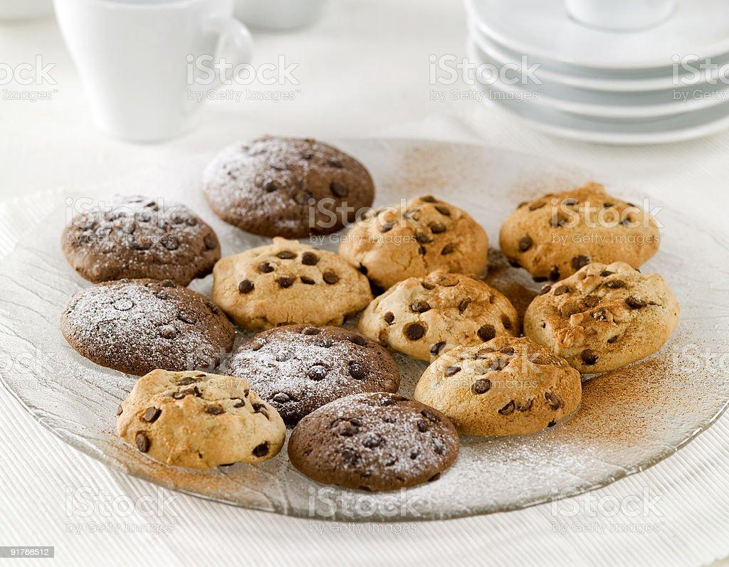 Печенье с кусочками шоколада Стоковые фото Стоковая фотография