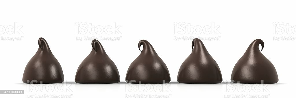 Chocolate Chip Line Up stock photo