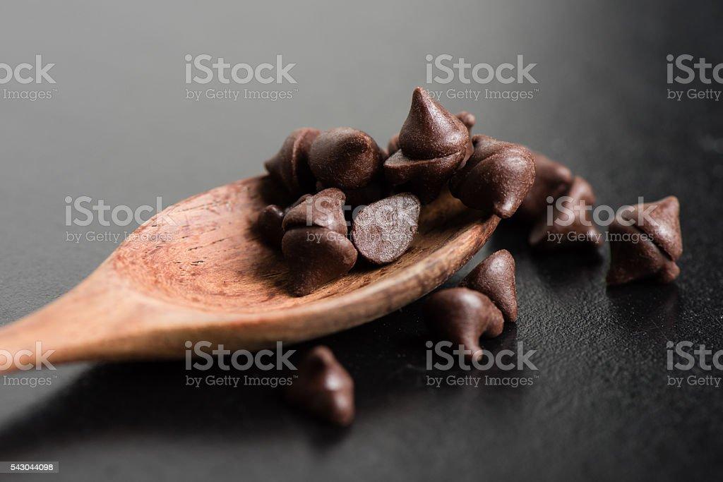 Chocolate chip stock photo