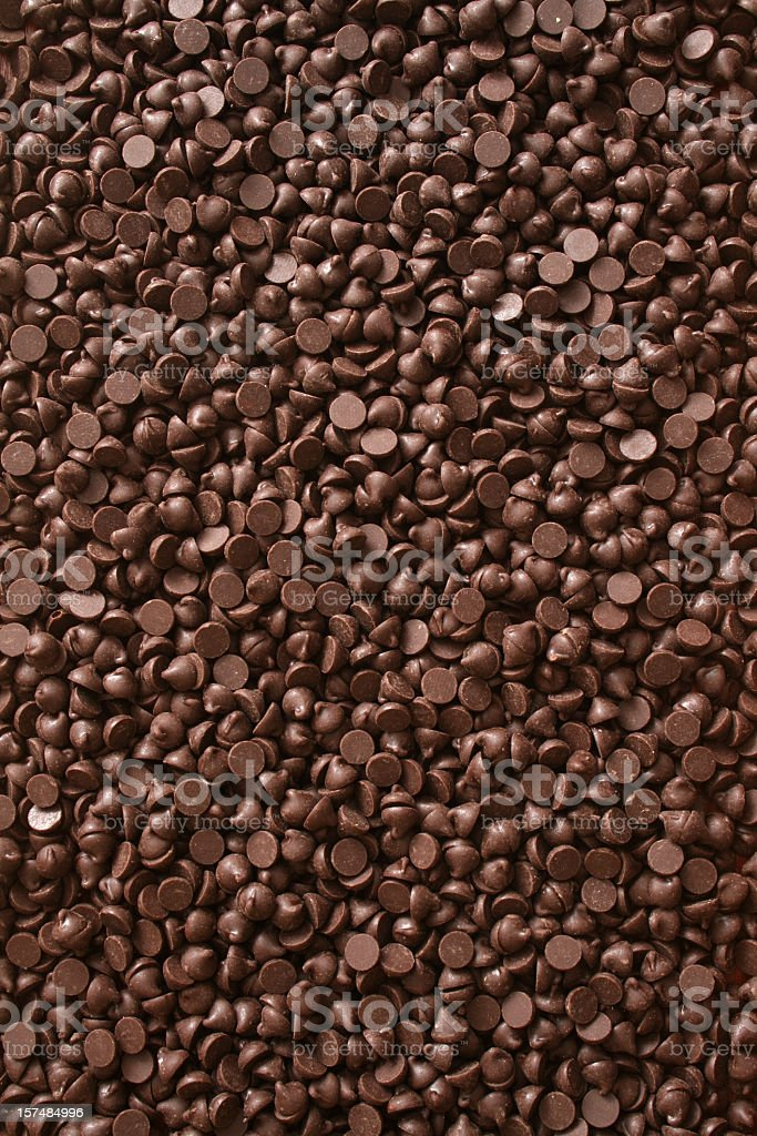 Chocolate chips background stock photo