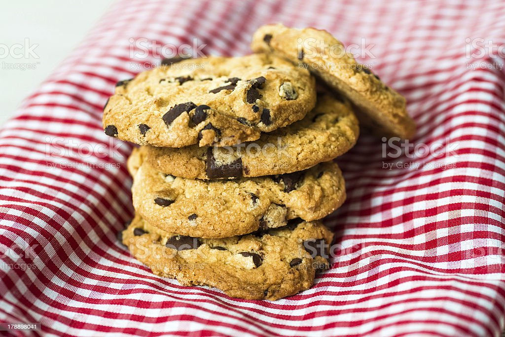 Chocolate chips cookies royalty-free stock photo
