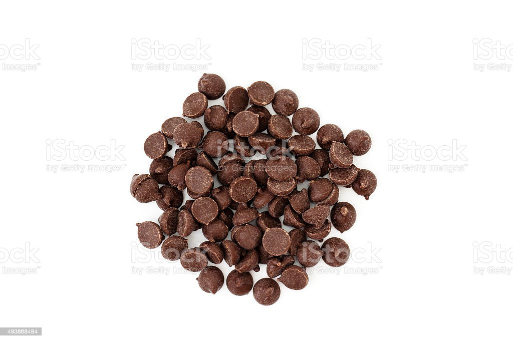 Chocolate Chips from above stock photo