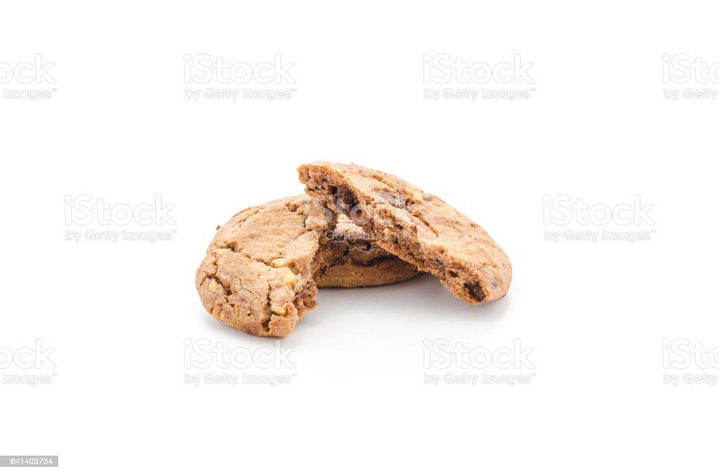 chocolate chips hazelnut cookies stock photo