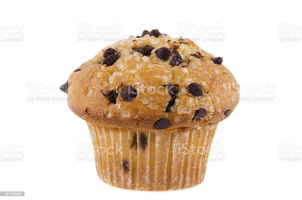 Chocolate chips muffin stock photo