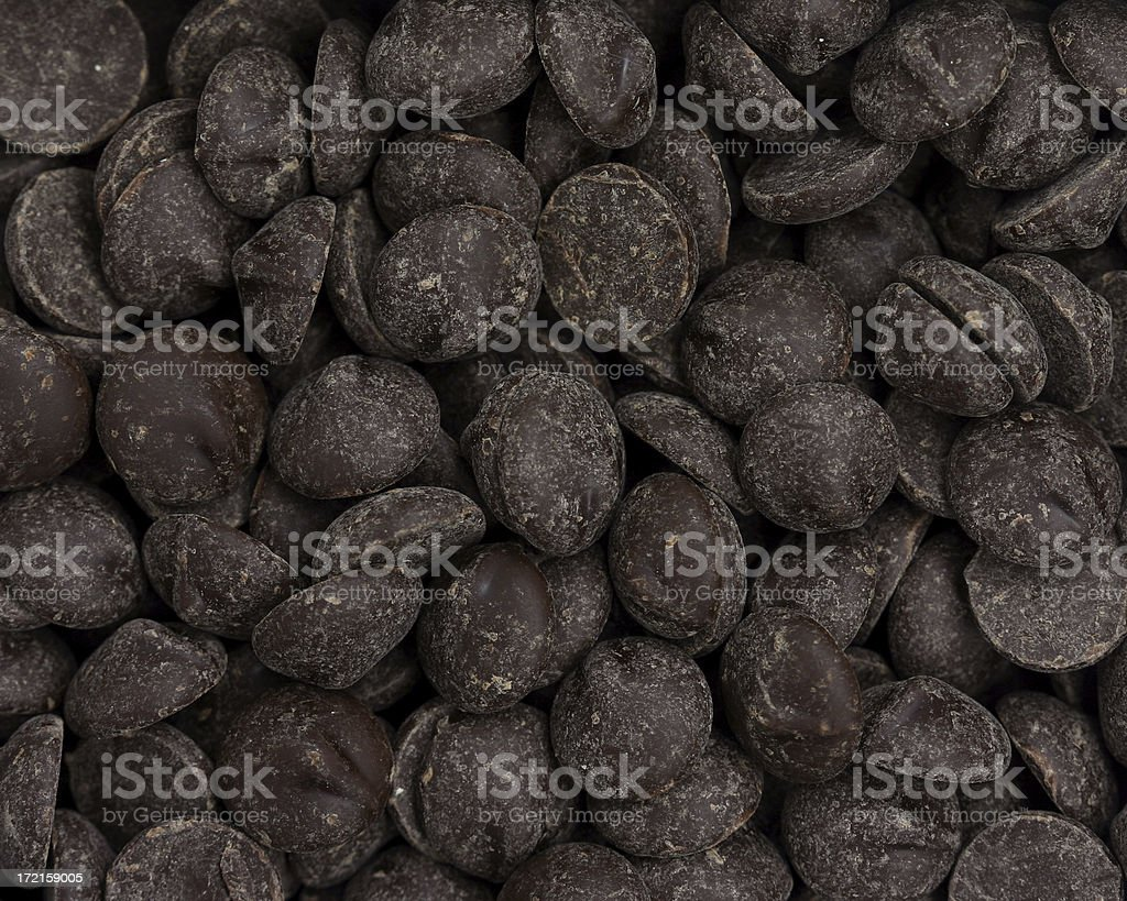 chocolate chips royalty-free stock photo
