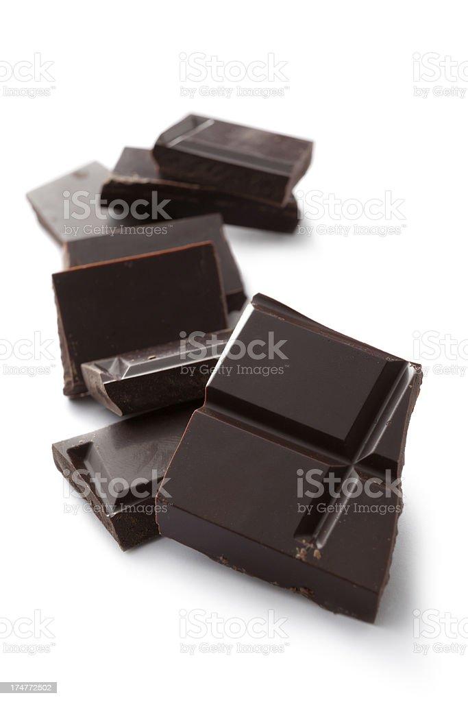 Chocolate: Chocolate Bar royalty-free stock photo