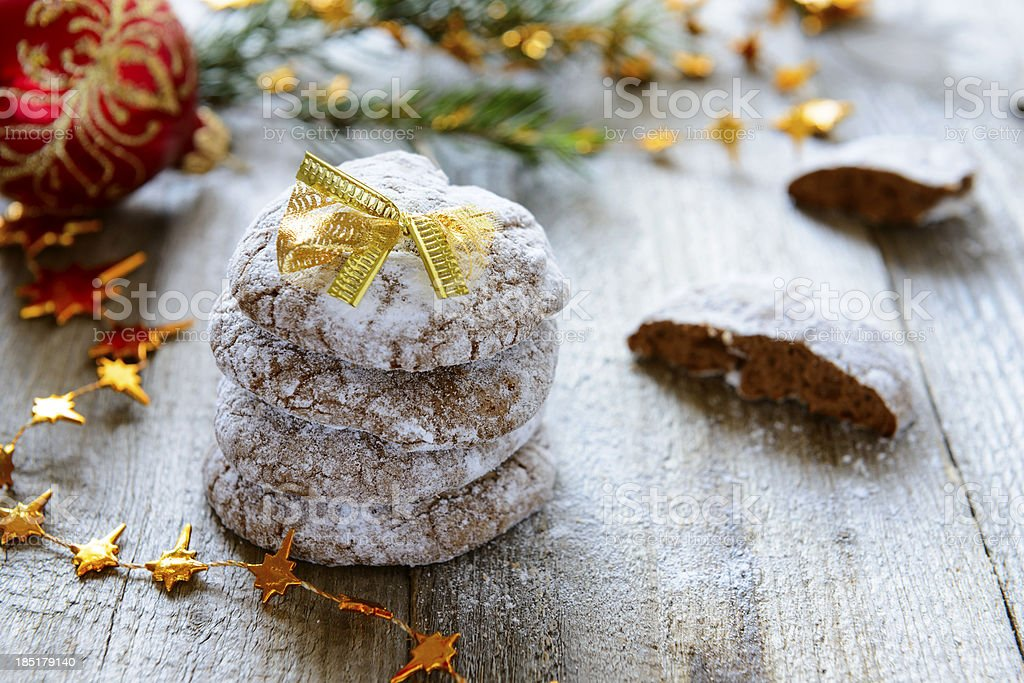 Chocolate Christmas cookies royalty-free stock photo