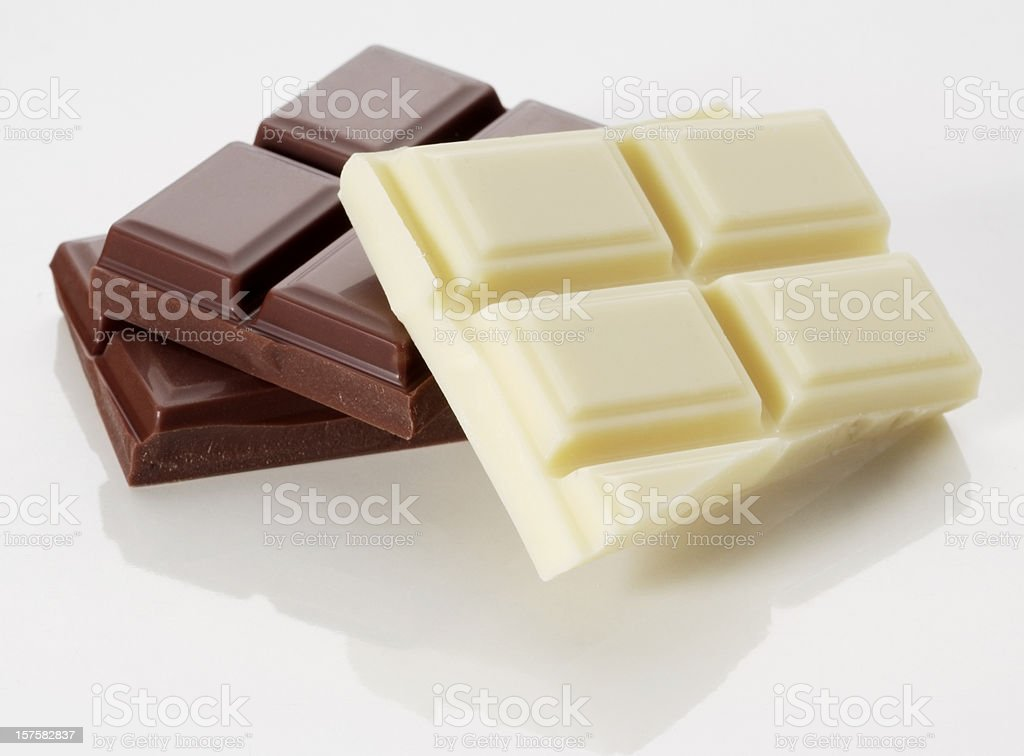 Chocolate chunks stock photo