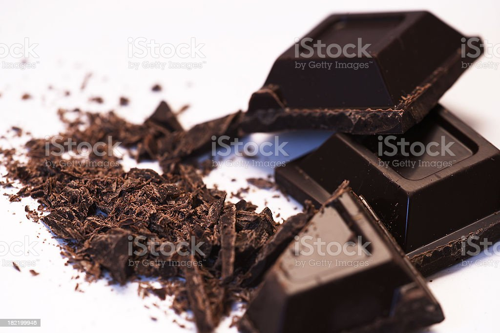 chocolate chunks royalty-free stock photo