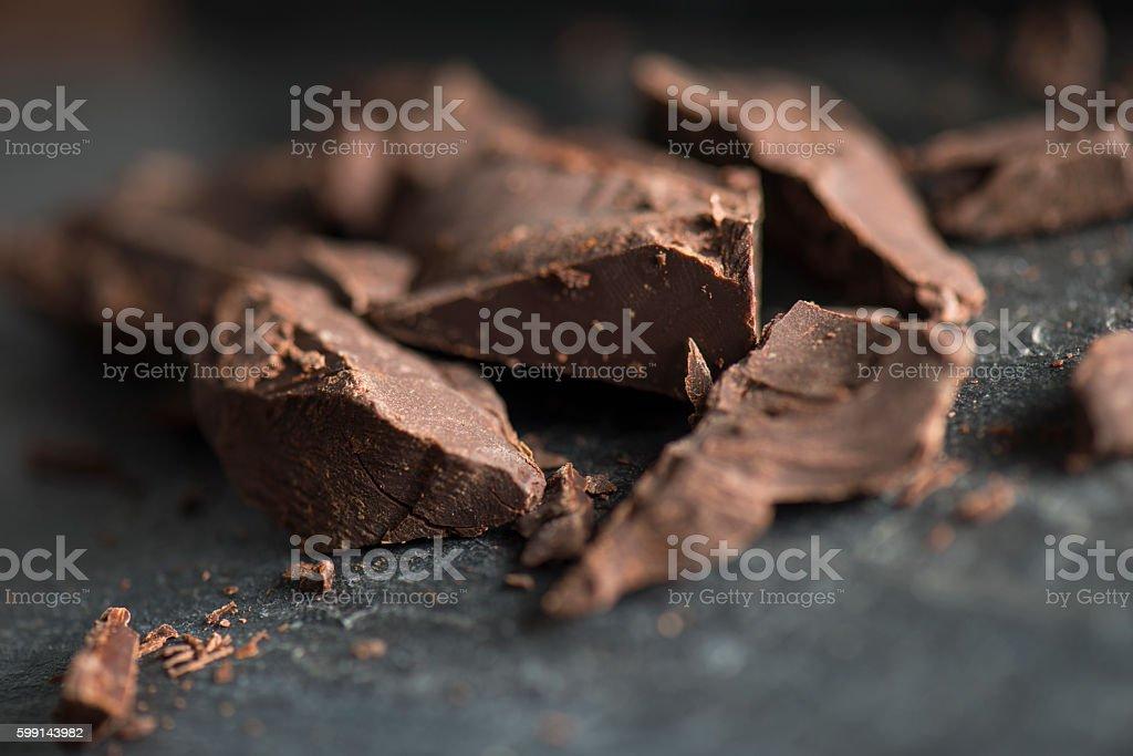 Chocolate chunks stock photo