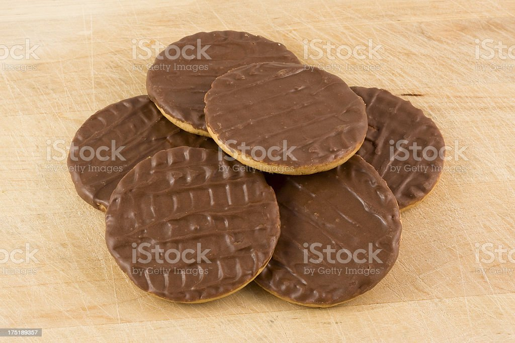 Chocolate coated biscuits royalty-free stock photo