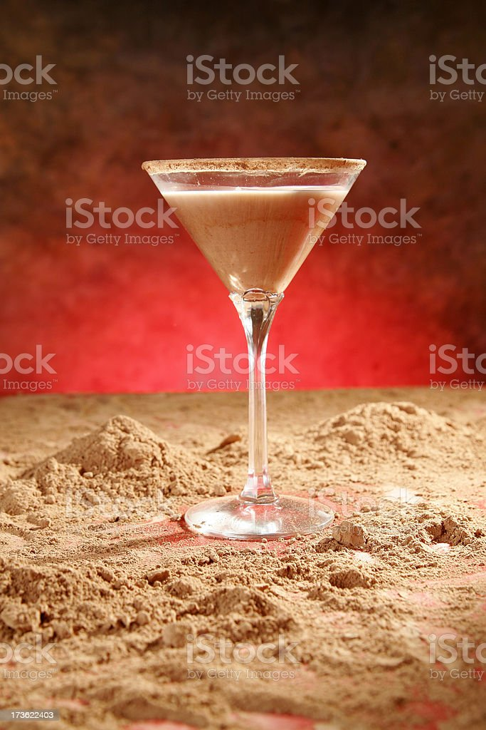 Chocolate coffee martini II stock photo