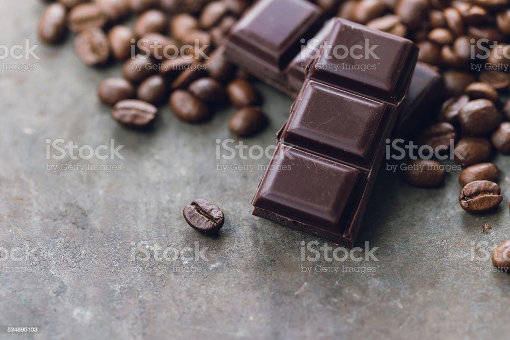 Chocolate Coffee stock photo