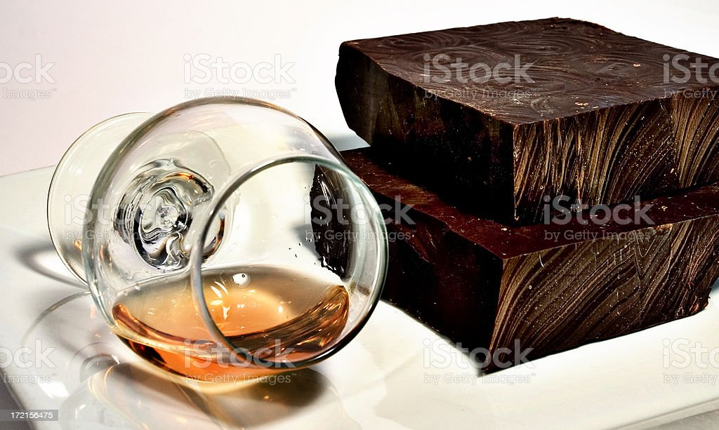 Chocolate & Cognac royalty-free stock photo