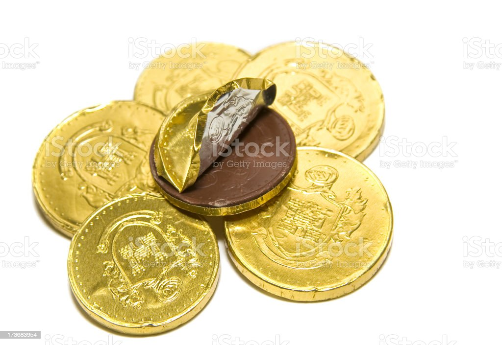 Chocolate Coins royalty-free stock photo