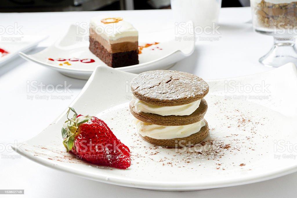 Chocolate Cookie and Ice Cream Dessert royalty-free stock photo
