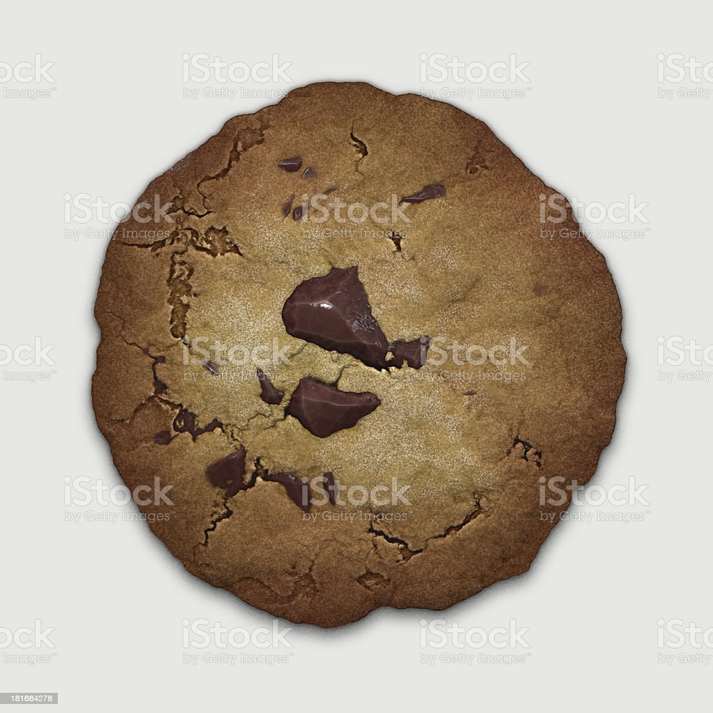 chocolate cookie royalty-free stock photo