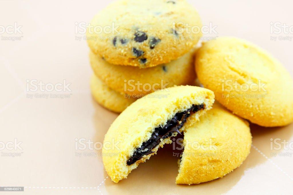 Chocolate cookie stock photo