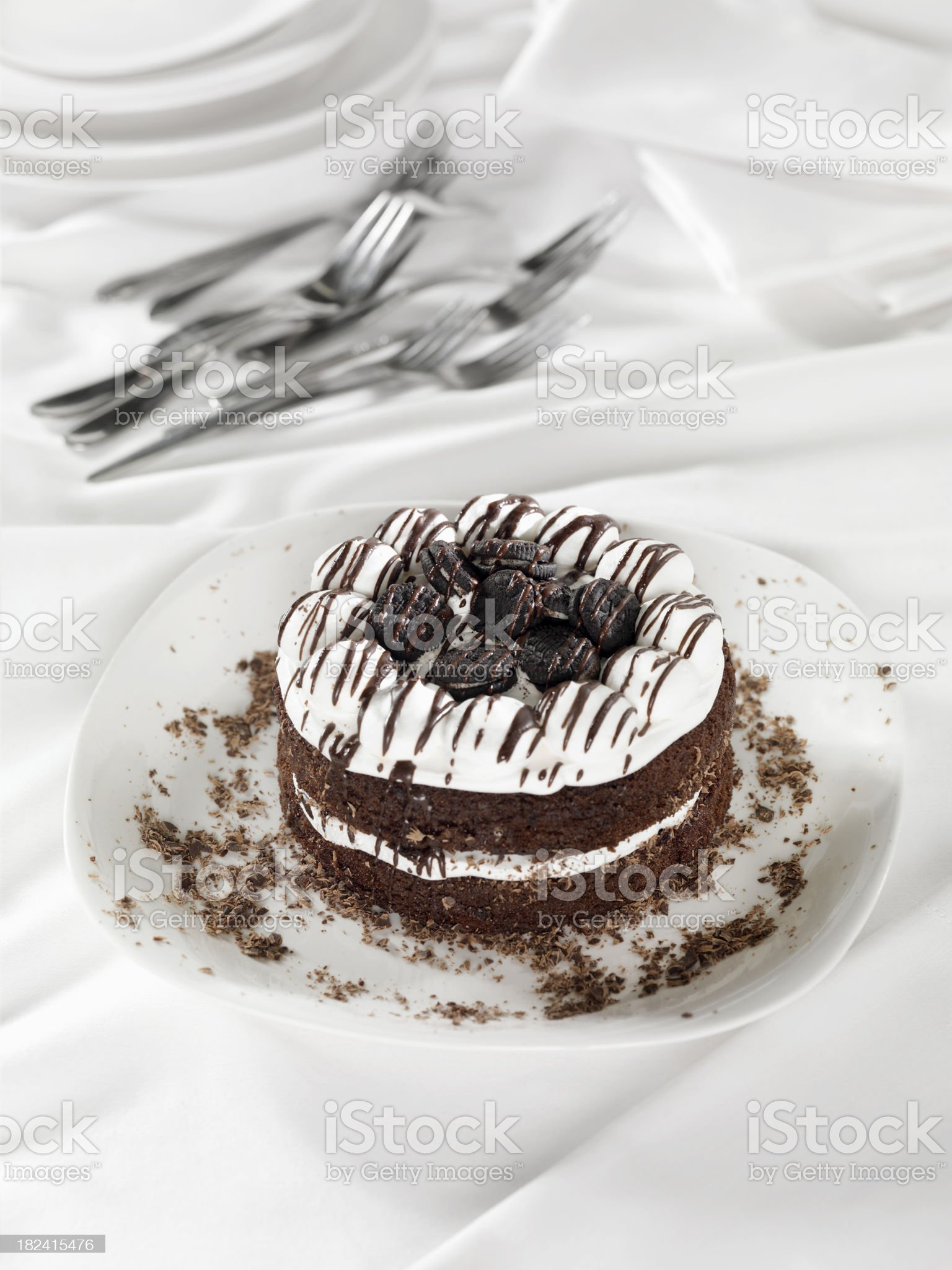 Chocolate Cookies and Cream Cake royalty-free stock photo