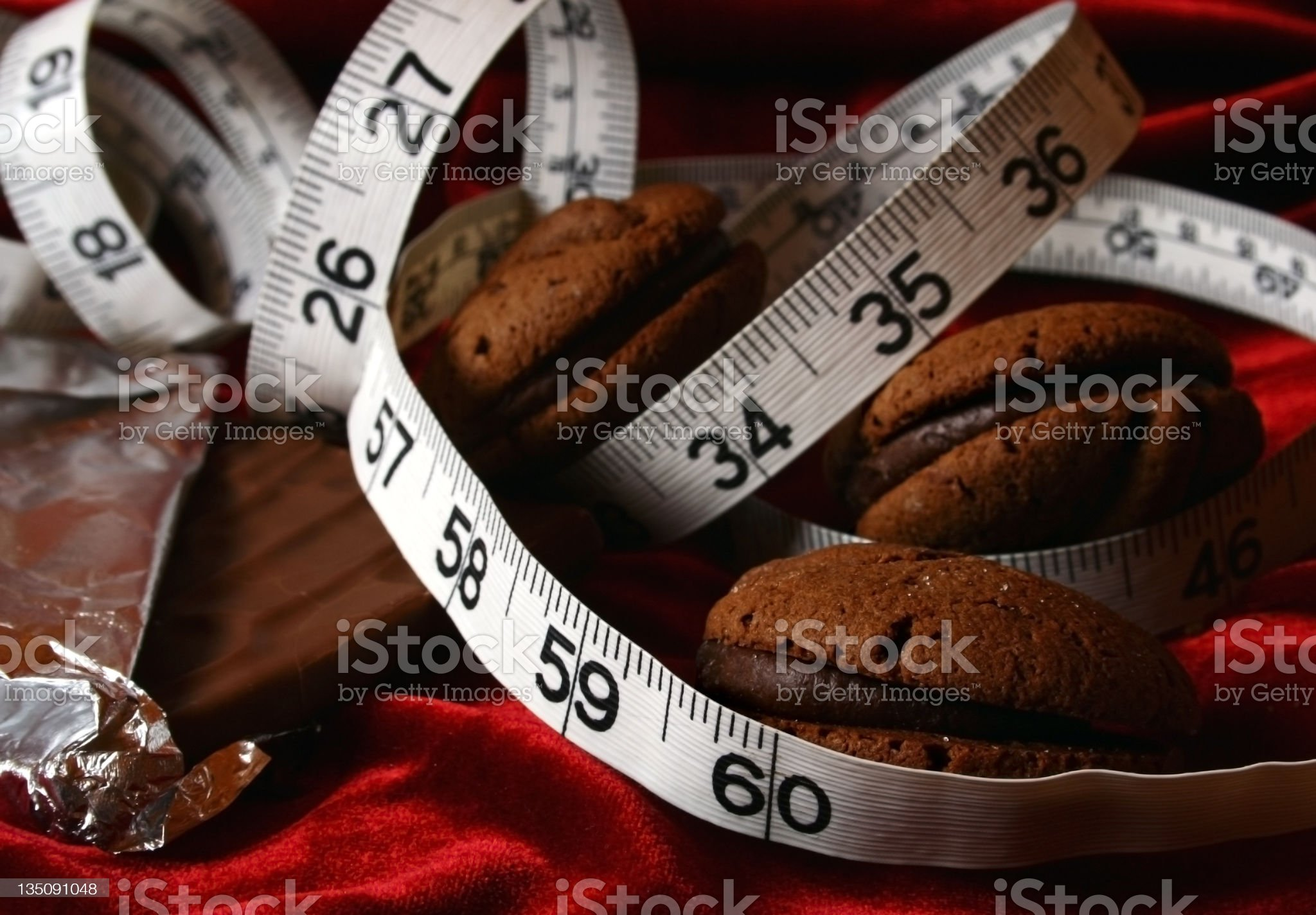 Chocolate Cookies Dieting Temptation royalty-free stock photo