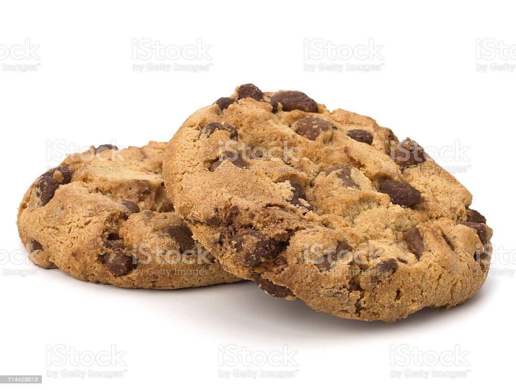 Chocolate cookies stock photo
