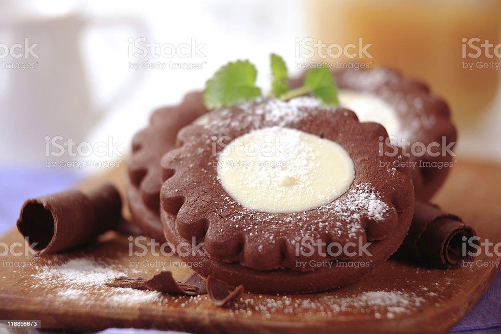 Шоколад cookie-файлы Стоковые фото Стоковая фотография