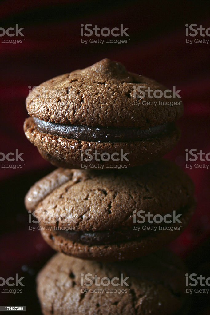 chocolate cookies pyramid royalty-free stock photo