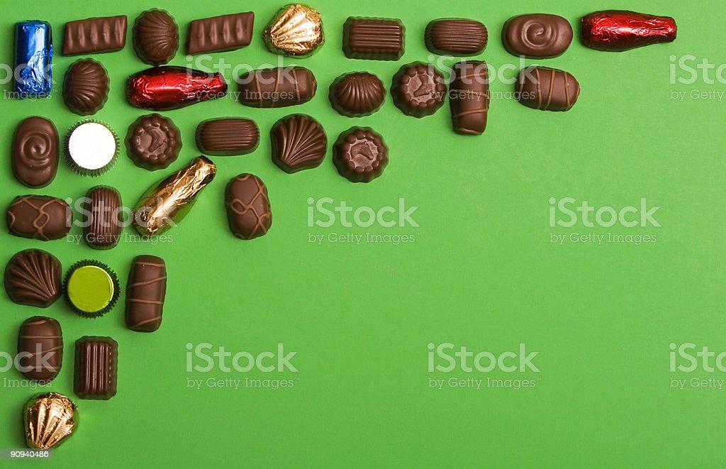 chocolate corner frame stock photo
