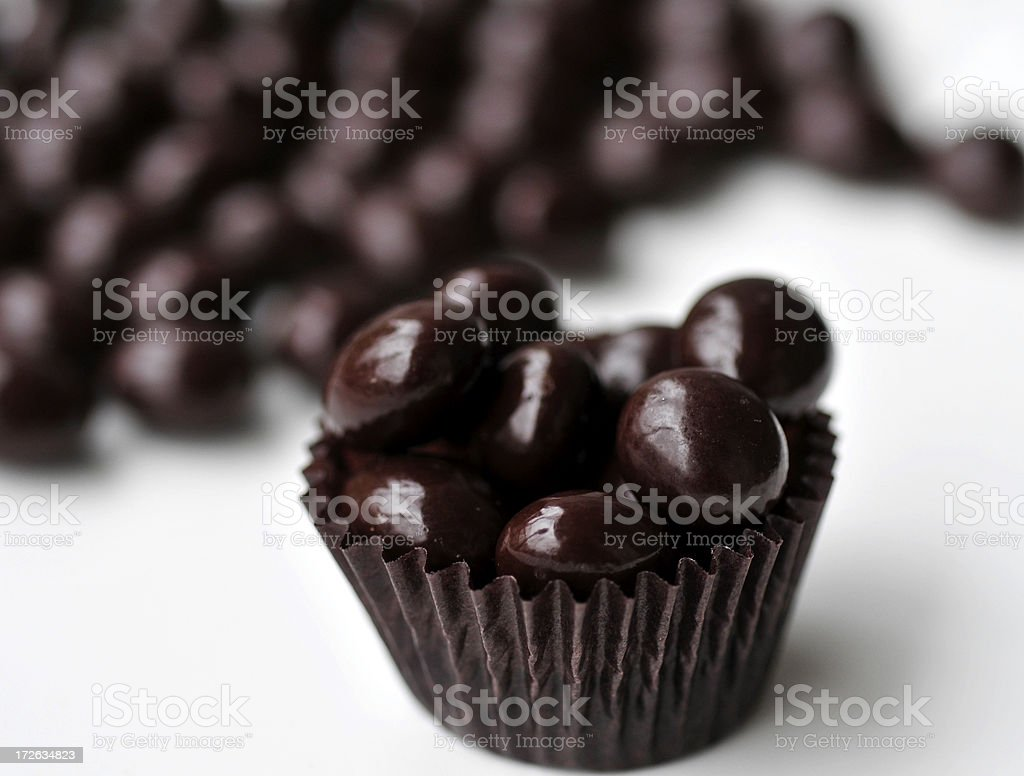 Chocolate Covered Espresso Beans stock photo