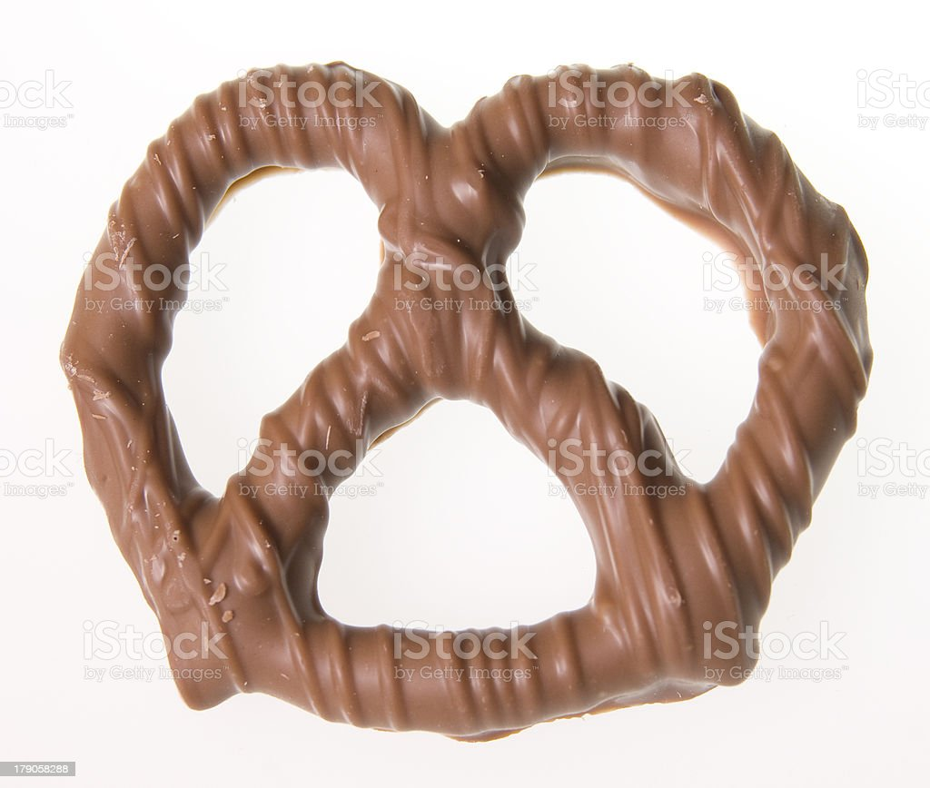 chocolate covered pretzel royalty-free stock photo