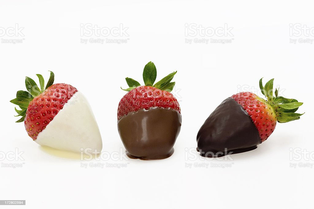 Chocolate Covered Strawberries stock photo