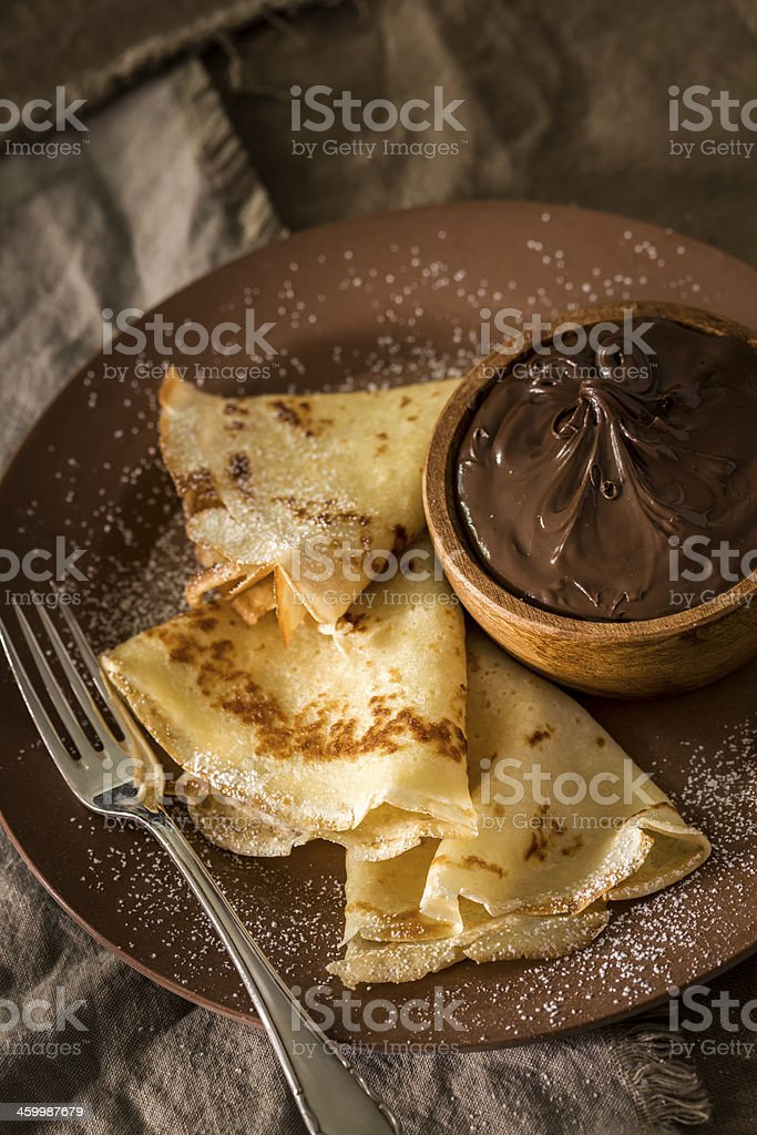 Chocolate Crepes royalty-free stock photo